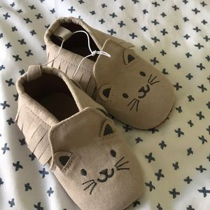 Baby Kitty cat moccasins